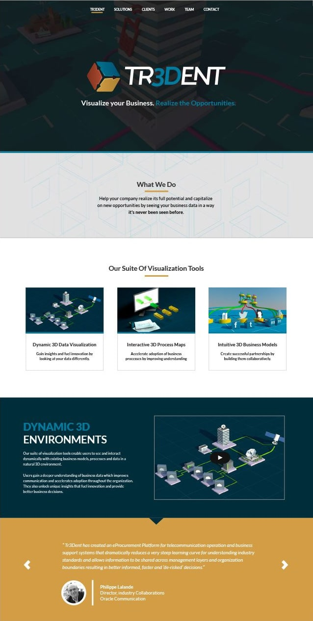 Tr3dent website