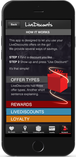 live discount how it works